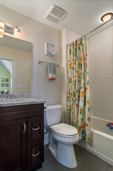Real Estate Photography - 3943 N. Whipple St., Chicago, IL, 60618 - 2nd Bathroom