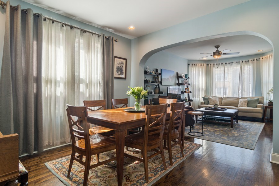 Real Estate Photography - 3943 N. Whipple St., Chicago, IL, 60618 - Living Room / Dining Room