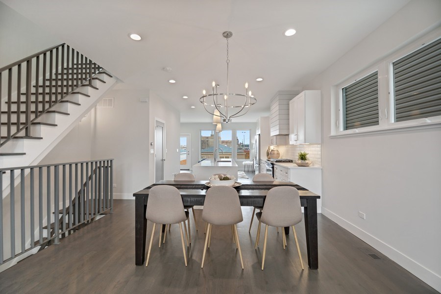 Real Estate Photography - 2548 W. Grenshaw, Chicago, IL, 60612 - Dining Room