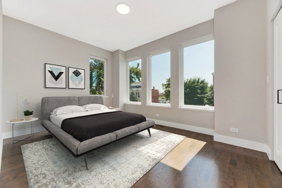 Real Estate Photography - 2548 W. Grenshaw, Chicago, IL, 60612 - Bedroom