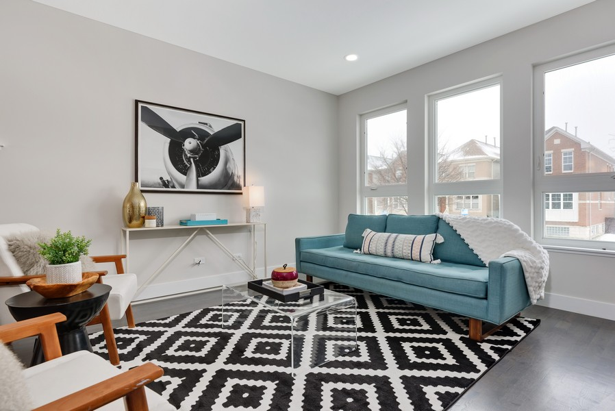 Real Estate Photography - 2548 W. Grenshaw, Chicago, IL, 60612 - Living Room