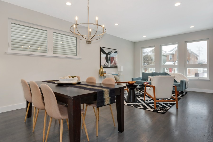 Real Estate Photography - 2548 W. Grenshaw, Chicago, IL, 60612 - Dining Area / Living Room