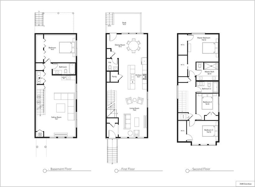 Real Estate Photography - 2548 W. Grenshaw, Chicago, IL, 60612 - Floorplan