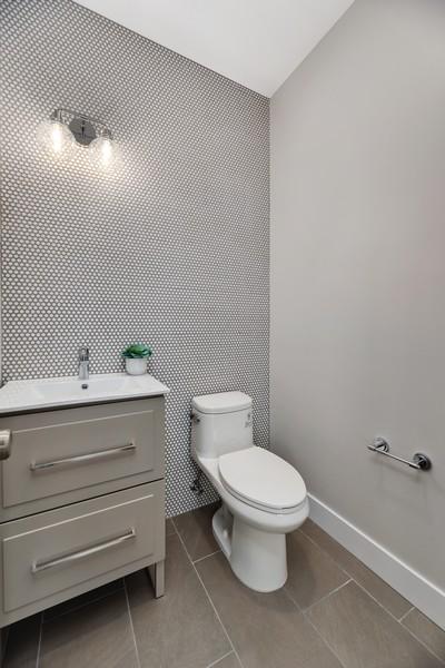 Real Estate Photography - 2548 W. Grenshaw, Chicago, IL, 60612 - Half Bath