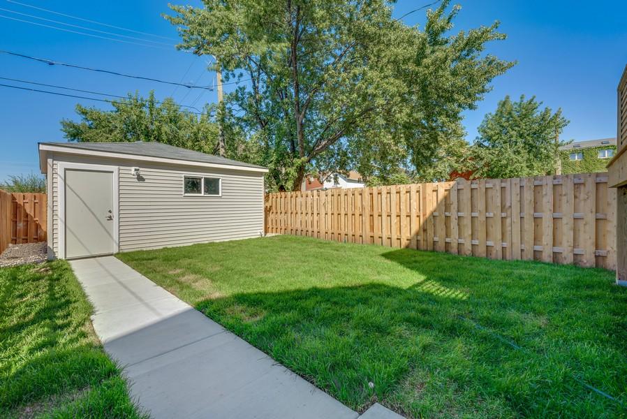 Real Estate Photography - 2548 W. Grenshaw, Chicago, IL, 60612 - Backyard / 2 Car Garage