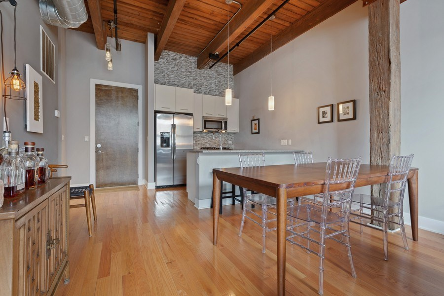 Real Estate Photography - 1800 W Grace, CHICAGO, IL, 60613 - Kitchen / Dining Room