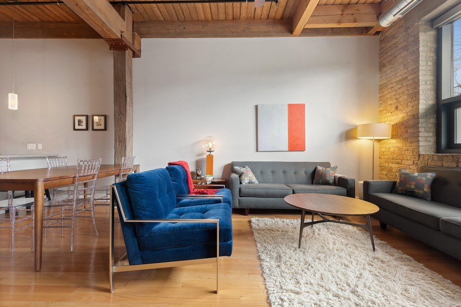 Real Estate Photography - 1800 W Grace, CHICAGO, IL, 60613 - Living Room/Dining Room