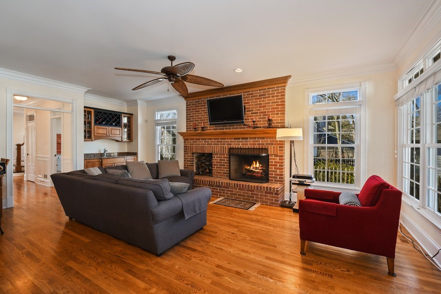 Real Estate Photography - 357 Hirst Court, Lake Bluff, IL, 60044 - Family Room