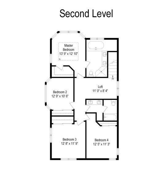 Real Estate Photography - 357 Hirst Court, Lake Bluff, IL, 60044 - Floor Plan