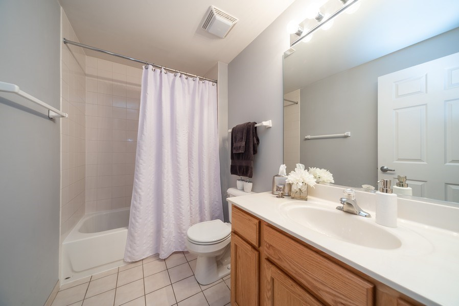Real Estate Photography - 3401 Carriageway Drive, #406, Arlington Hts, IL, 60004 - 2nd Bathroom