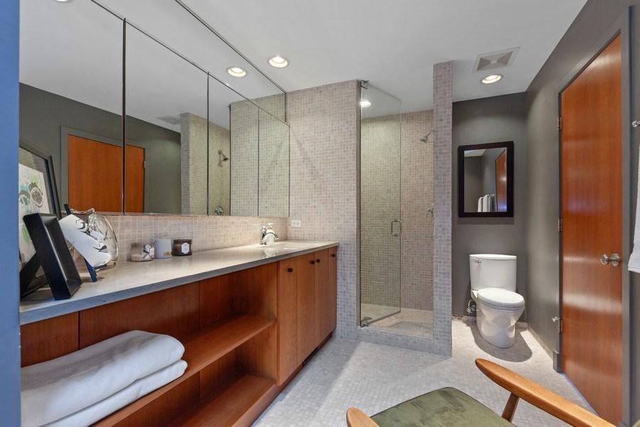 Real Estate Photography - 235 Park Ave, Highland Park, IL, 60035 - Master Bathroom