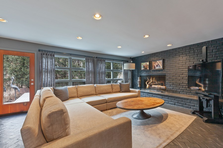 Real Estate Photography - 235 Park Ave, Highland Park, IL, 60035 - Family Room