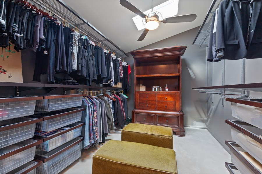 Real Estate Photography - 235 Park Ave, Highland Park, IL, 60035 - Master Bedroom Closet