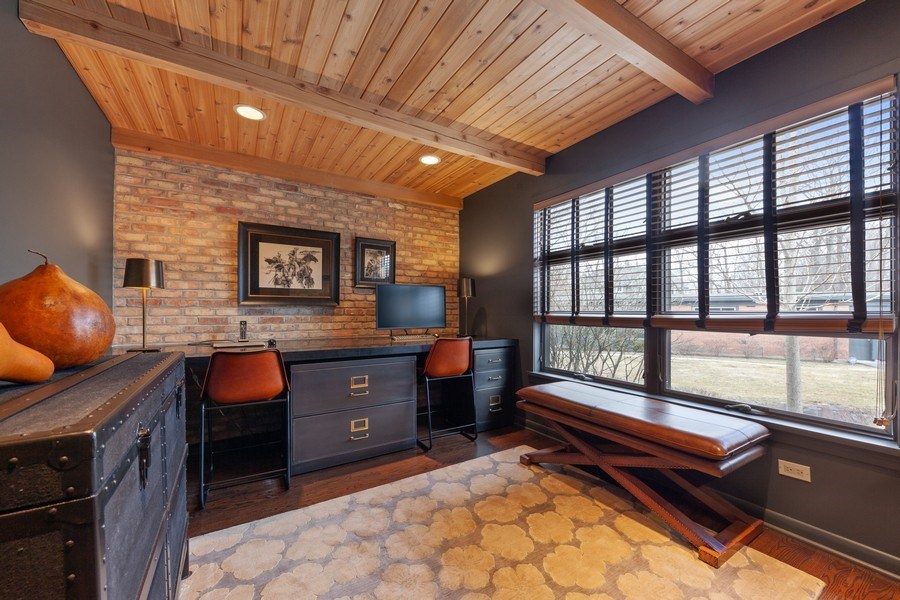 Real Estate Photography - 235 Park Ave, Highland Park, IL, 60035 - Office/Bedroom 4