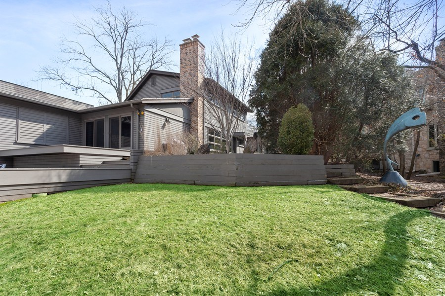 Real Estate Photography - 235 Park Ave, Highland Park, IL, 60035 - Rear View