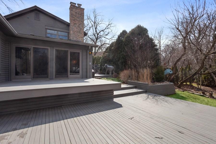 Real Estate Photography - 235 Park Ave, Highland Park, IL, 60035 - Deck