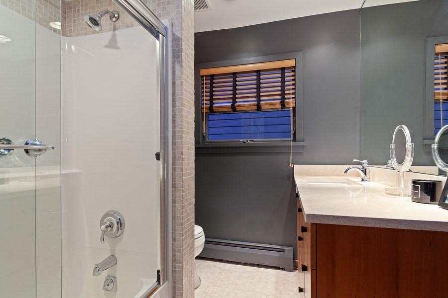 Real Estate Photography - 235 Park Ave, Highland Park, IL, 60035 - 2nd Bathroom