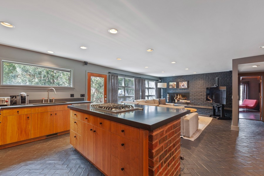 Real Estate Photography - 235 Park Ave, Highland Park, IL, 60035 - Family Room / Kitchen