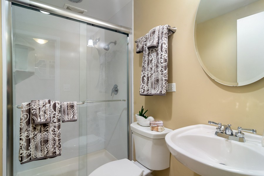Real Estate Photography - 1530 N Pine Ave, Arlington Heights, IL, 60004 - 2nd Bathroom