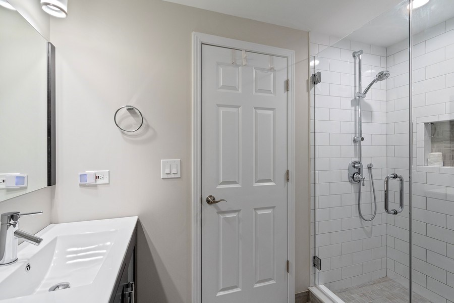 Real Estate Photography - 1085 Windhaven Court, Lake Forest, IL, 60045 - Basement bathroom