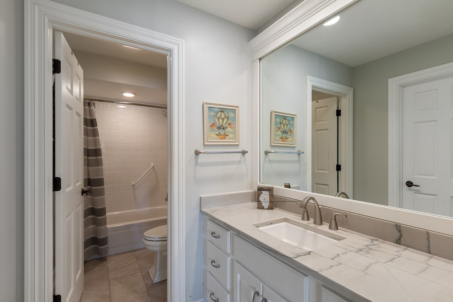 Real Estate Photography - 1085 Windhaven Court, Lake Forest, IL, 60045 - Ensuite bathroom