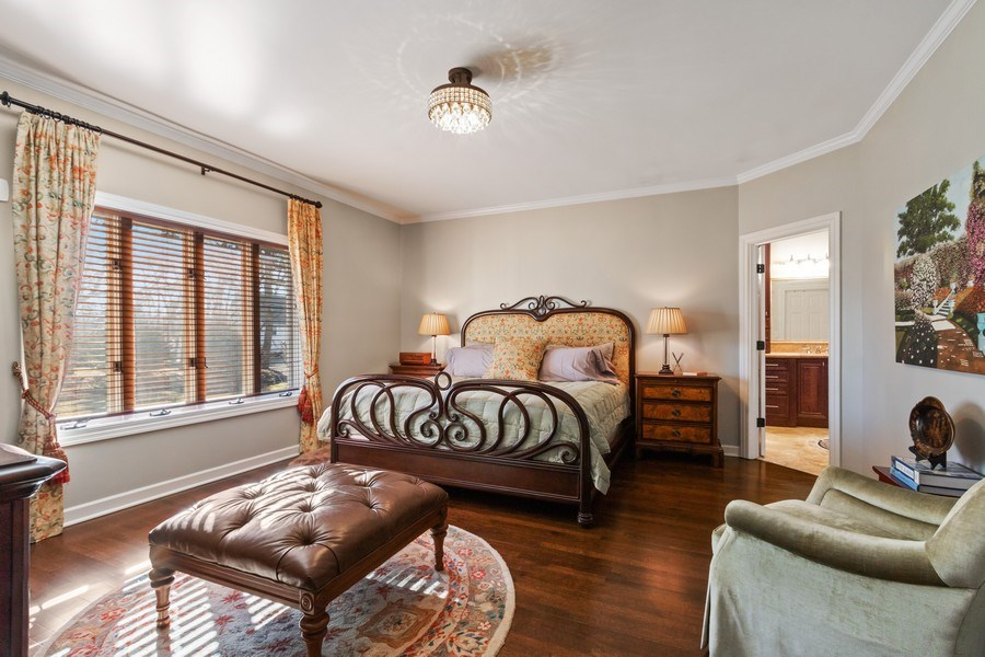 Real Estate Photography - 1085 Windhaven Court, Lake Forest, IL, 60045 - Master bedroom - first floor