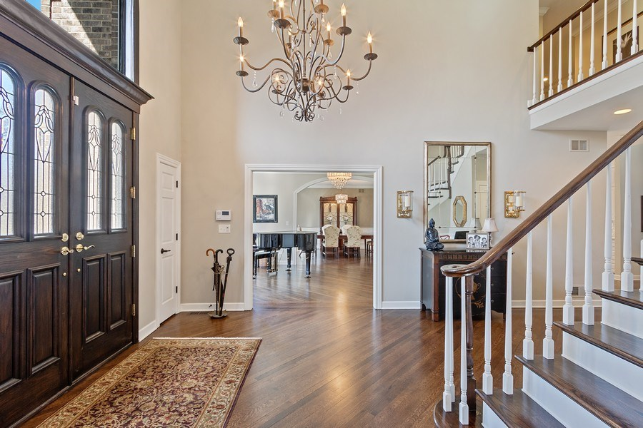 Real Estate Photography - 1085 Windhaven Court, Lake Forest, IL, 60045 - Foyer/Living Room