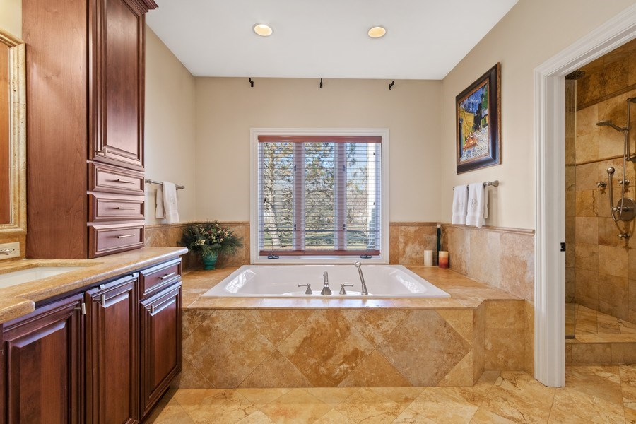 Real Estate Photography - 1085 Windhaven Court, Lake Forest, IL, 60045 - Master Bathroom