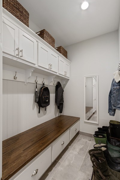Real Estate Photography - 1085 Windhaven Court, Lake Forest, IL, 60045 - Mudroom