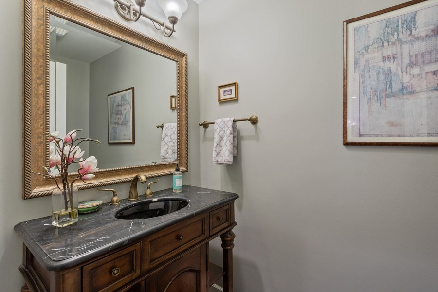 Real Estate Photography - 1085 Windhaven Court, Lake Forest, IL, 60045 - Powder Room