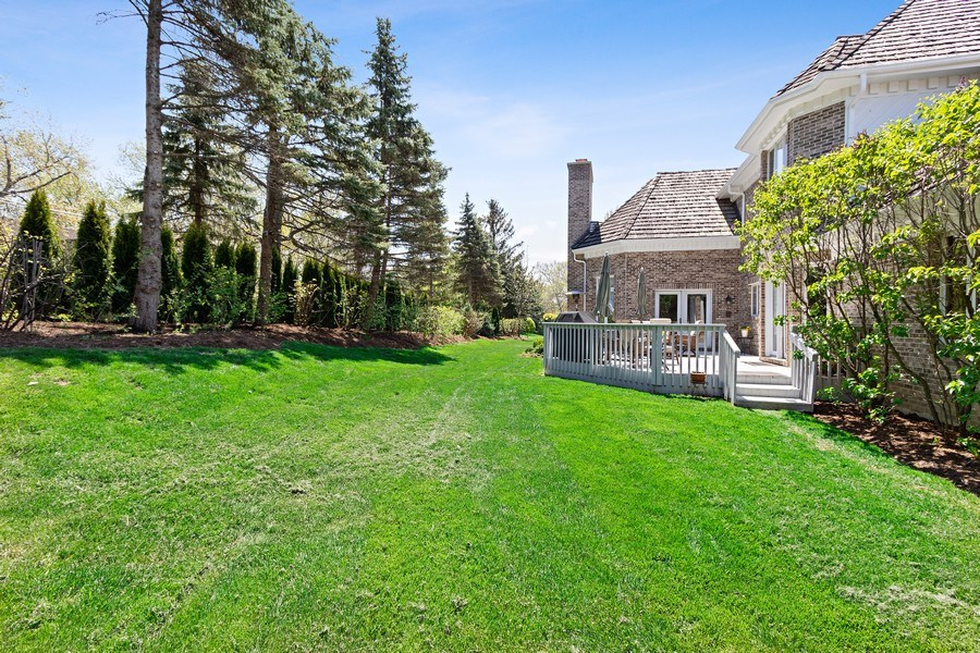 Real Estate Photography - 1085 Windhaven Court, Lake Forest, IL, 60045 - Back Yard