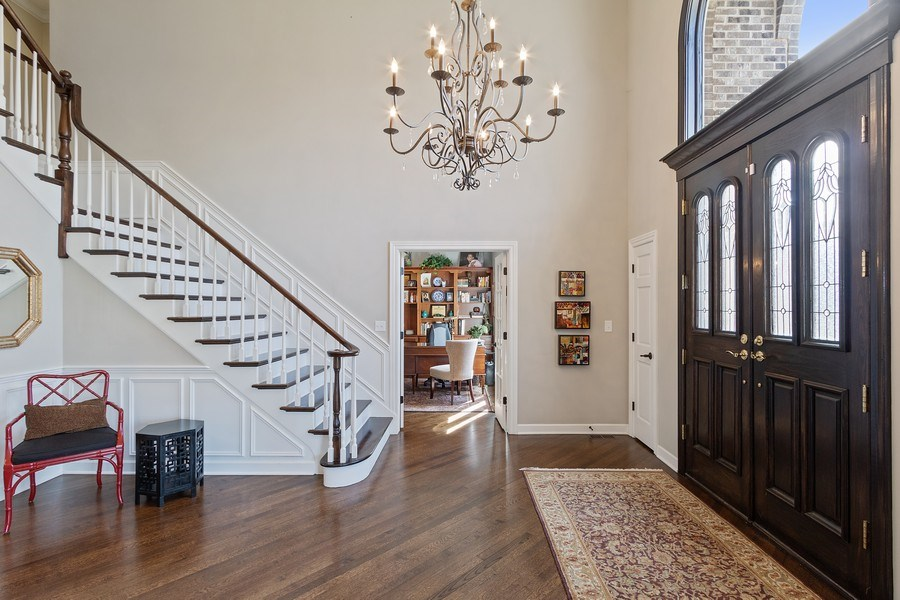 Real Estate Photography - 1085 Windhaven Court, Lake Forest, IL, 60045 - Foyer
