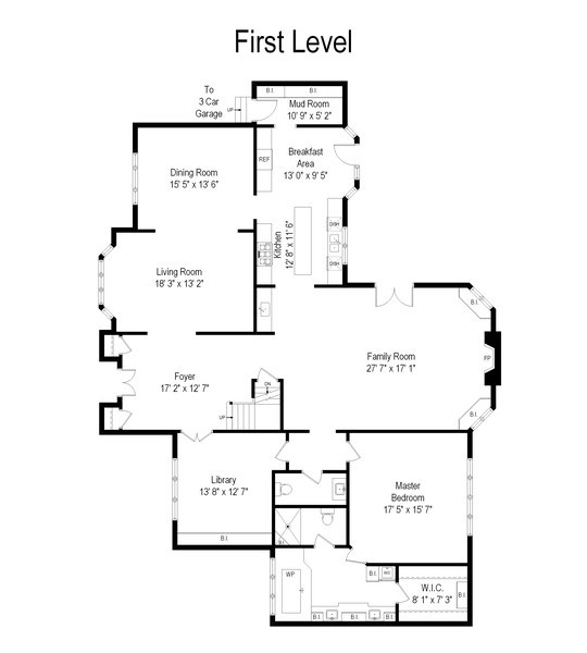 Real Estate Photography - 1085 Windhaven Court, Lake Forest, IL, 60045 - Floor Plan
