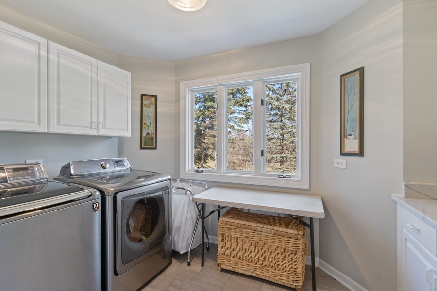 Real Estate Photography - 1085 Windhaven Court, Lake Forest, IL, 60045 - Laundry Room