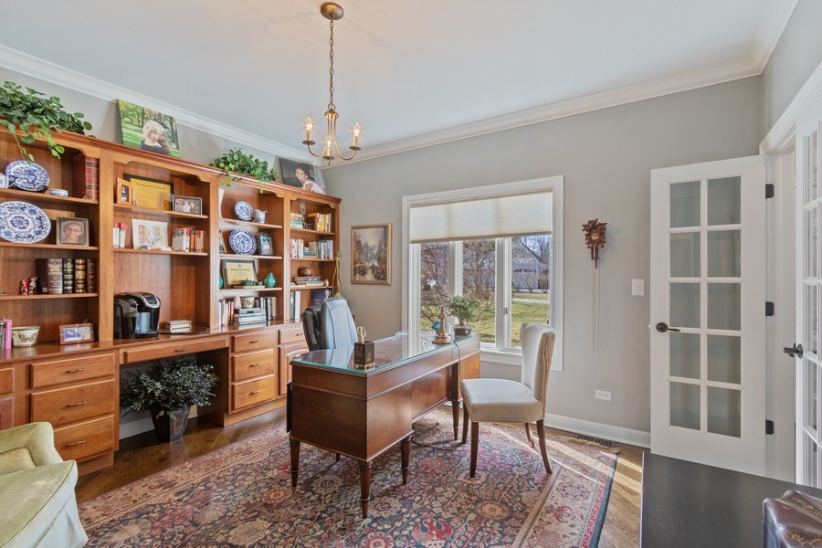 Real Estate Photography - 1085 Windhaven Court, Lake Forest, IL, 60045 - Office