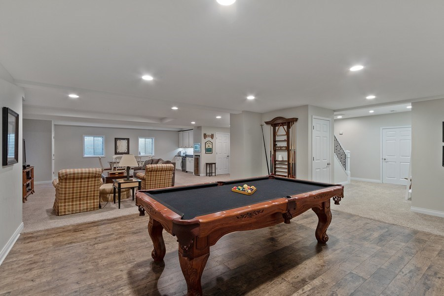 Real Estate Photography - 1085 Windhaven Court, Lake Forest, IL, 60045 - Pool Room