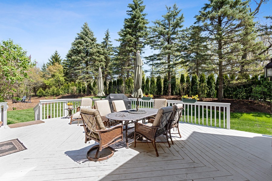 Real Estate Photography - 1085 Windhaven Court, Lake Forest, IL, 60045 - Deck