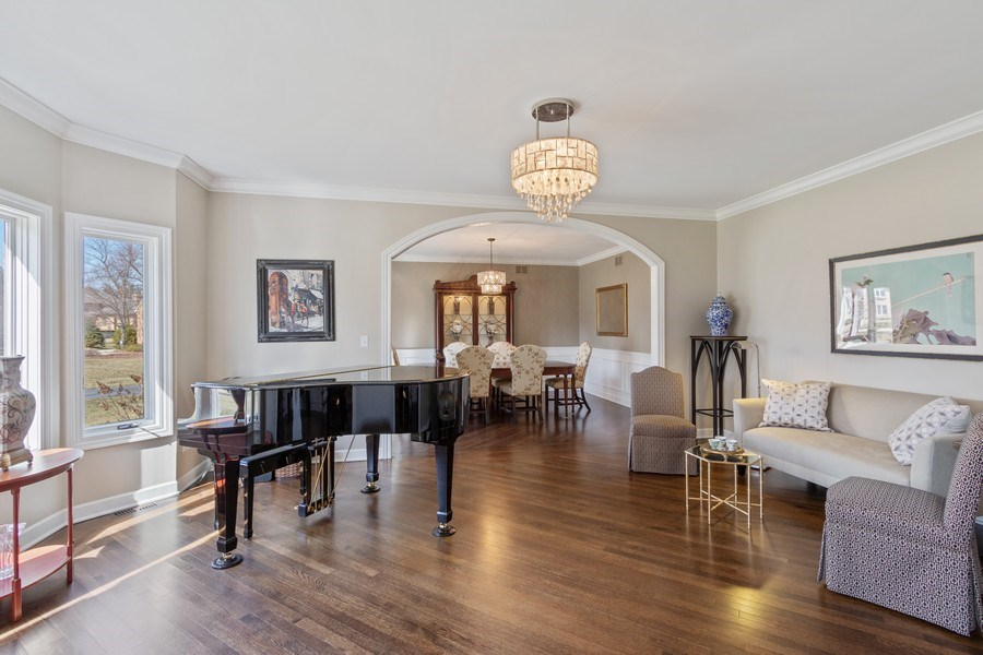 Real Estate Photography - 1085 Windhaven Court, Lake Forest, IL, 60045 - Living Room / Dining Room