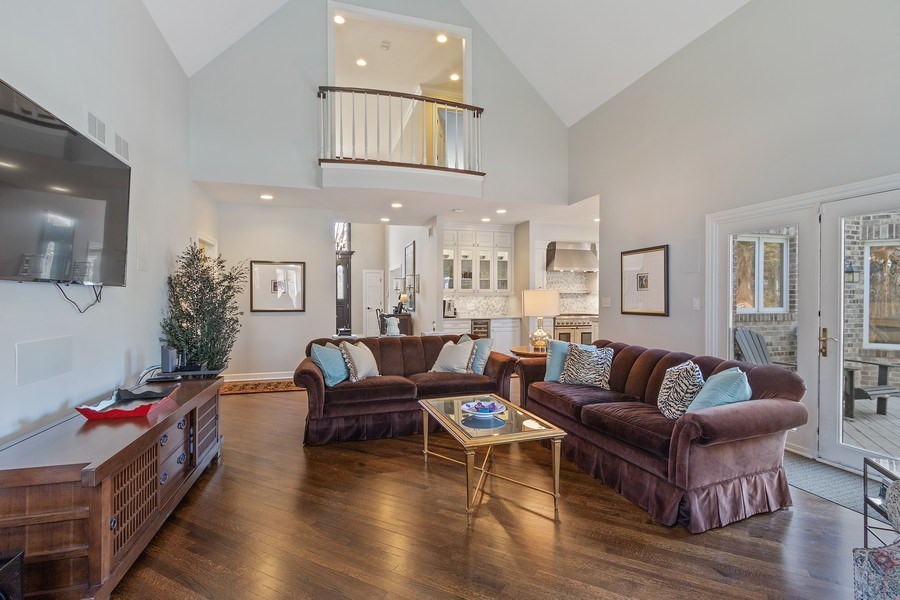 Real Estate Photography - 1085 Windhaven Court, Lake Forest, IL, 60045 - Family Room / Kitchen