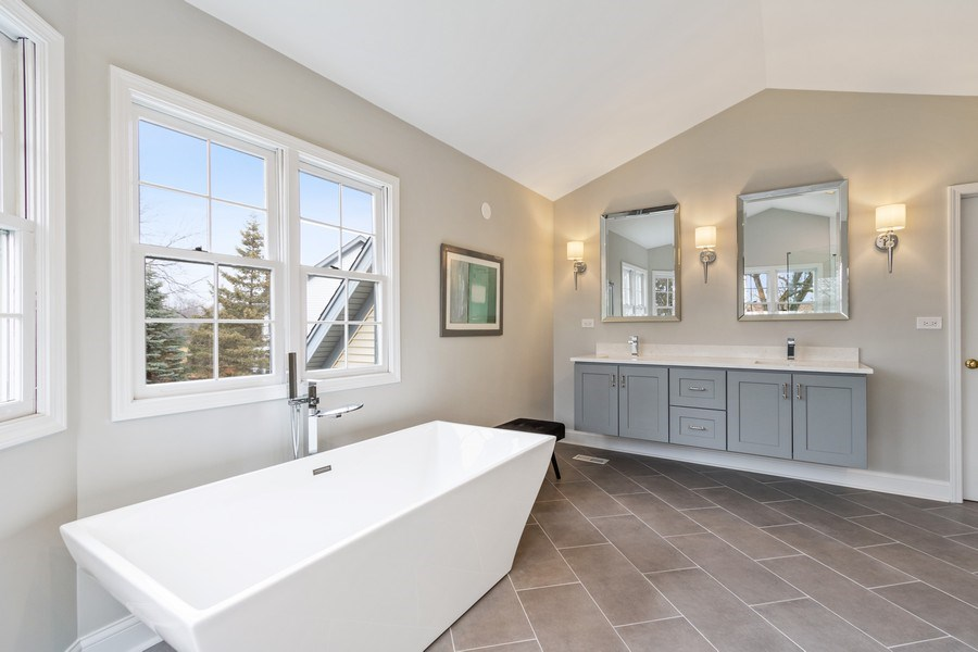 Real Estate Photography - 659 New Bridge Court, Barrington, IL, 60010 - Master Bathroom