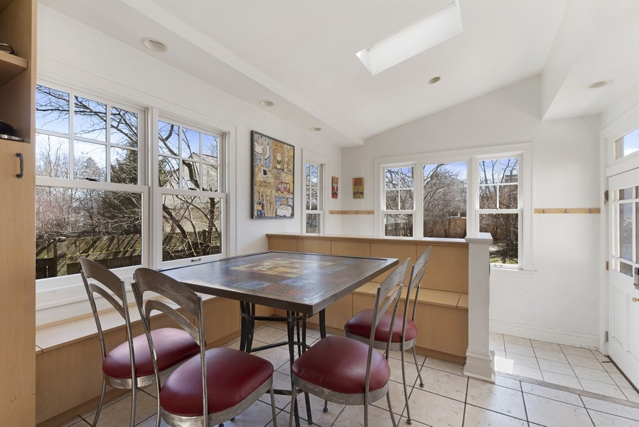Real Estate Photography - 428 Elder Ln., Winnetka, IL, 60093 - Breakfast Room and Mud Room