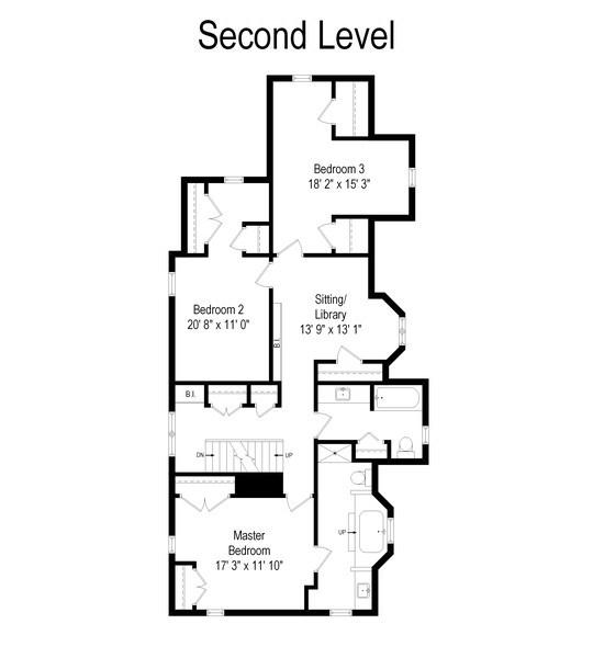 Real Estate Photography - 428 Elder Ln., Winnetka, IL, 60093 - Floor Plan