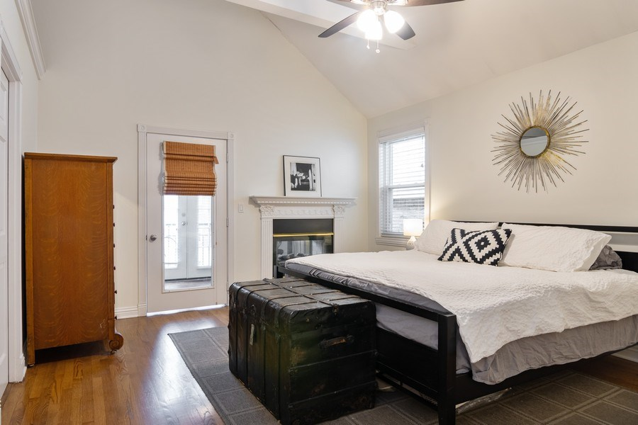 Real Estate Photography - 1219 N. Marion Ct, Chicago, IL, 60622 - Master Bedroom
