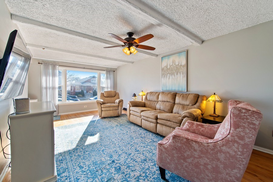 Real Estate Photography - 5514 S Sayre Ave, Chicago, IL, 60638 - Living Room