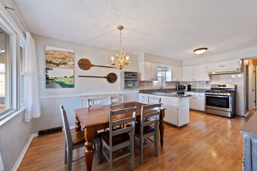 Real Estate Photography - 5514 S Sayre Ave, Chicago, IL, 60638 - Kitchen / Dining Room