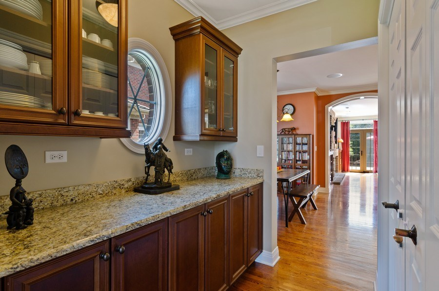 Real Estate Photography - 1601 Cabot Ln, Glenview, IL, 60026 - Butler's pantry