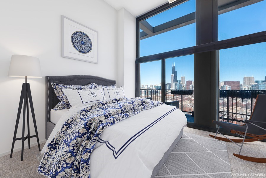 Real Estate Photography - 1530 S State 18 G, Chicago, IL, 60605 - 2nd Bedroom