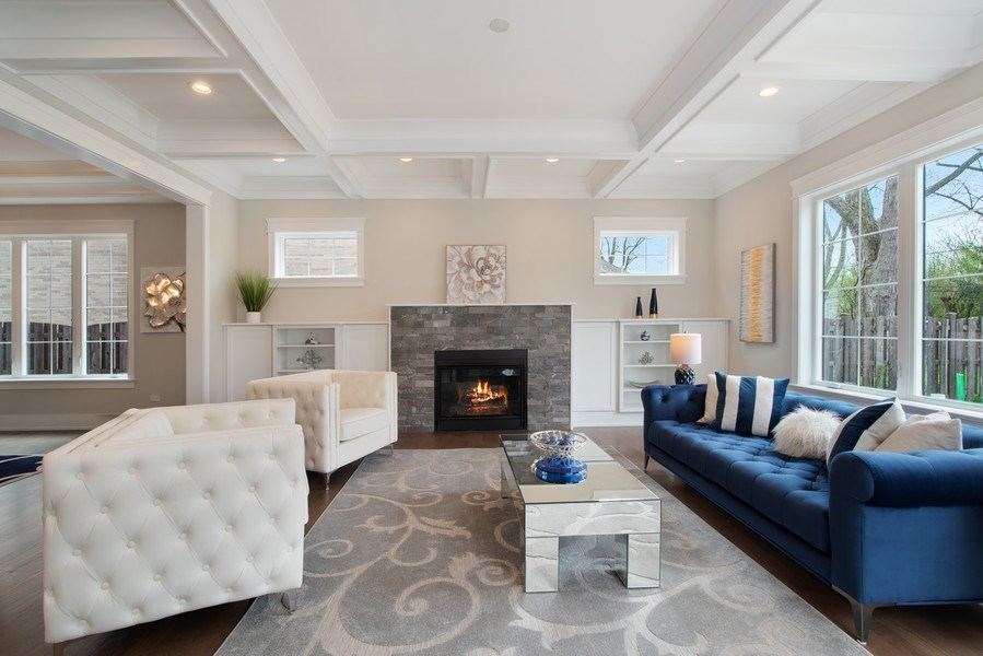 Real Estate Photography - 2241 Covert, Glenview, IL, 60025 - Living Room
