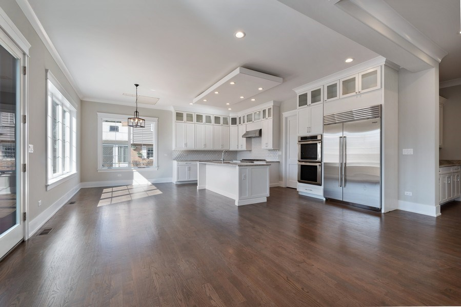Real Estate Photography - 2241 Covert, Glenview, IL, 60025 - Kitchen/Family Room