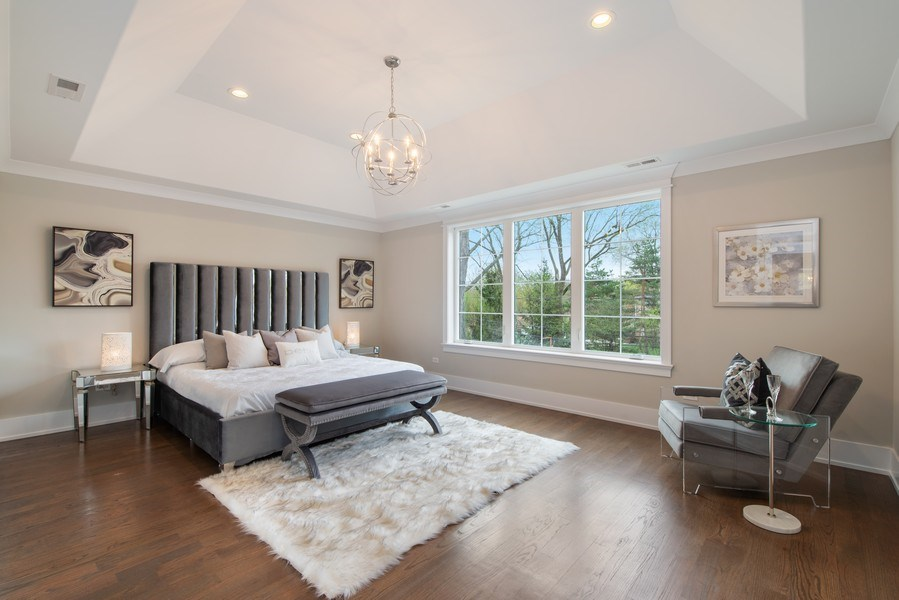 Real Estate Photography - 2241 Covert, Glenview, IL, 60025 - Master Bedroom